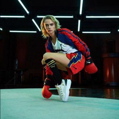 Puma, Balmain, et Cara Delevingne font rimer sport, glamour et luxe accessible